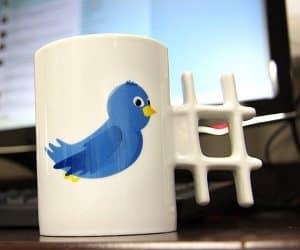 hash tag tweet mug