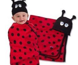 ladybug swaddle set