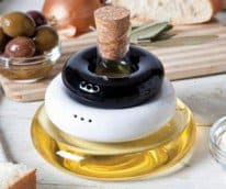olive oil with salt and pepper