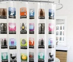 smartphone app shower curtain