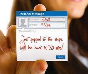 social sticky notes