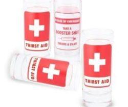 thirst aid shot glasses