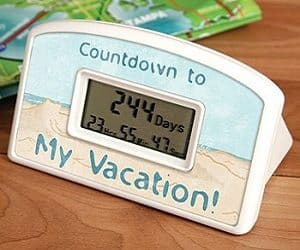 vacation countdown clock