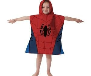 hooded spiderman towel