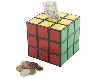 Rubik 39 s cube money box for Awesome money box