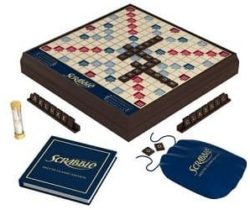 scrabble deluxe wood edition