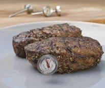 steak thermometer button
