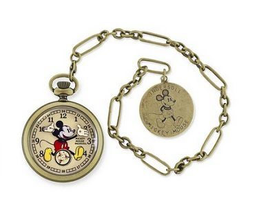 Gold Mickey Mouse Pocket WatchGold Mickey Mouse Pocket Watch