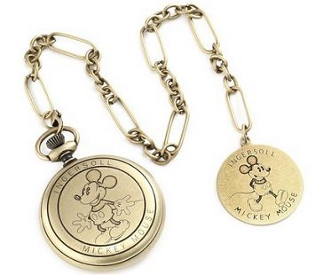 Gold Mickey Mouse Pocket Watches