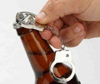 handcuff bottle opener