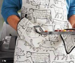 meat cuts apron