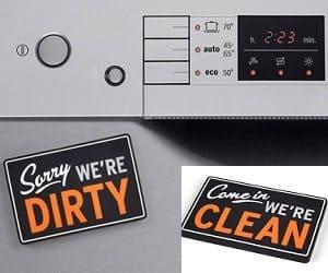 reversible dishwasher sign