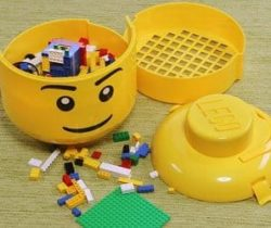 Lego boy storage head