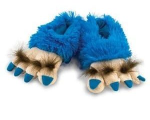 blue creature feet slippers