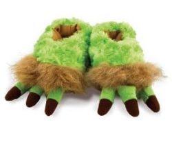 green monster feet slippers