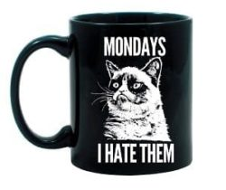 grumpy cat monday mug
