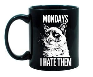 grumpy cat monday mug