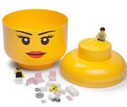 lego girl storage head