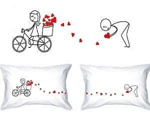love trail pillowcases