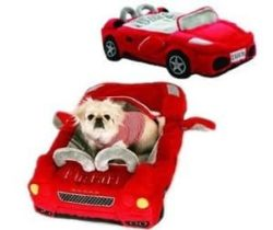 red ferrari pet bed