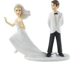 runaway bride cake topper