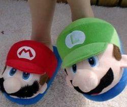 super mario and luigi slippers