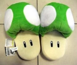 super mario green mushroom slippers