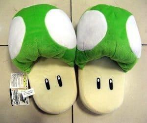 super mario green mushroom slippers