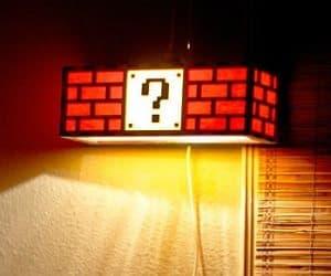 super mario question mark lamp