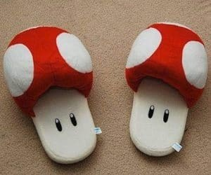 super mario red mushroom slippers