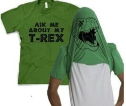 t-rex flip up t-shirt