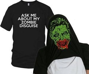 zombie disguise t-shirt