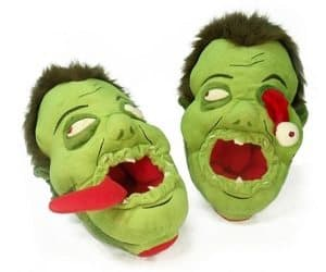 zombie head slippers