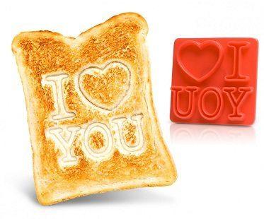I love you toast stamp