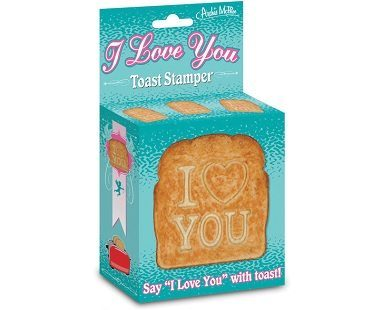 I love you toast stamp packaging