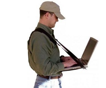 Mobile Laptop Harness And Desk