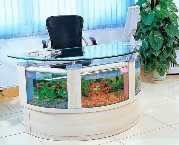 Aquarium Office Table