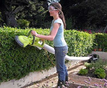collecting hedge trimmer full