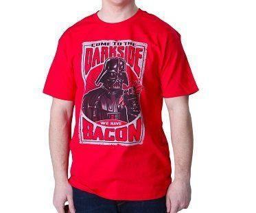 darth vader bacon t-shirt