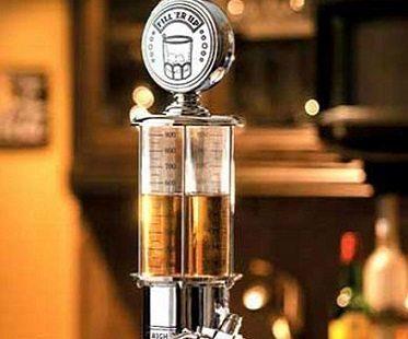 gas pump liquor dispenser top