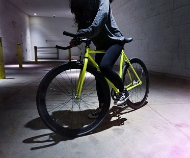 glow in the dark bike riding