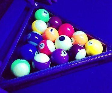 glow in the dark pool table kit