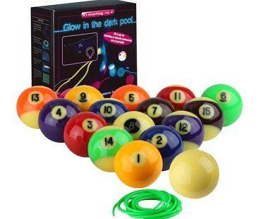 glow in the dark pool table kit box