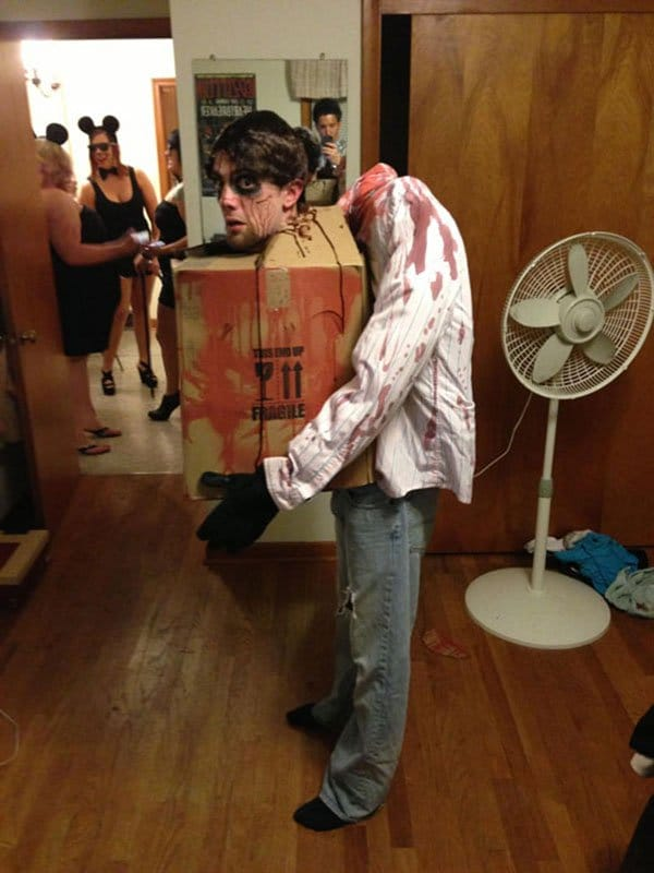 head in a box costume
