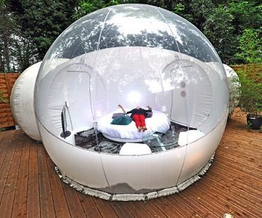 inflatable bubble tent bed