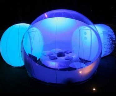 inflatable bubble tent night