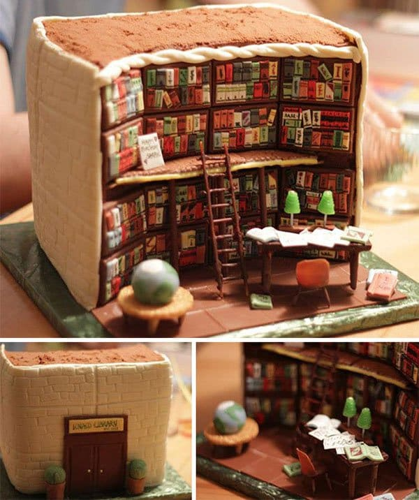 library cake