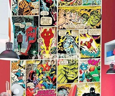 Marvel comics wallpaper mural for Comic book wallpaper mural