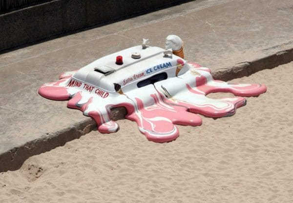 melted ice cream birds eye