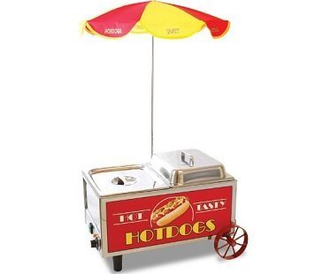 mini hot dog steamer cart